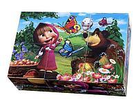 Играем вместе: Набор из 6-и кубиков Маша и медведь