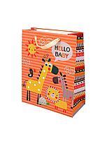 """Пакет бумажный """"Hallo Baby"""". 32x26x12 см."""