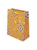"""Пакет бумажный """"Абстракция в желтом"""". 32x26x12 см."""