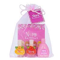 NOMI: Подарочный набор № 16- лак для ногтей № 15, № 17, жидкость для снятия лака