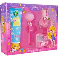 NOMI: Подарочный набор детской косметики в коробке из пластика Розовая Карамелька №4