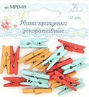 """Набор декоративных мини-прищепок """"Рукоделие"""" 18 шт, микс 2"""