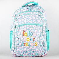 Рюкзак школьный, для девочки, облегченный, Яркие цвета в ассортименте