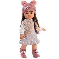 LLORENS: Кукла Сара 35 см., брюнетка в меховом жилете