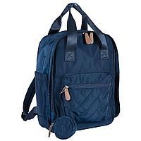 Chicco: Сумка-рюкзак для мамы синяя 2020 Осень-Зима