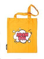 "Сумка-шопер хлопковая,желтая.""Адам Бол"".Коллекция Адам Бол.Qazaqstan ART."