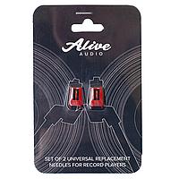 Набор универсальных сменных игл для проигрывателей ALIVE AUDIO Stylus (2 шт. в уп.)