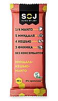 Батончик SOJ фруктово-ореховый Миндаль-Кешью-Манго 40г