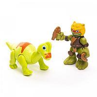 TMNT: Half-Shell Heroes. Фигурка Дино Майк с Брахиозавром