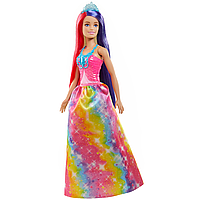 Barbie: Кукла Barbie Dreamtopia Прицесса с прекрасными волосами, в розовом топе