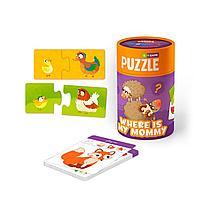 """MON: Игровой набор """"Мама и малыш"""": пазлы и карточки с заданиями"""