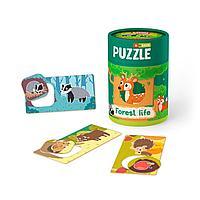 """MON: Игровой набор """"Зоология для Малышей. Лесная жизнь"""": пазлы и карточки с заданиями"""