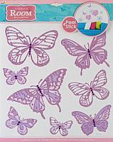Room Decor: Бабочки-стразы сиреневые