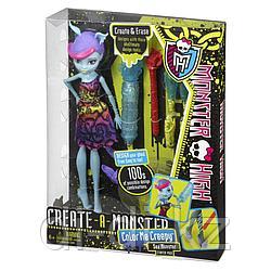 Mattel Куклы Monster High КУКЛА Sea monster COLOR ME CREEPY BCC45 / Y7726