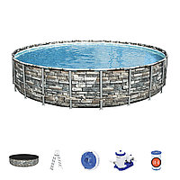 Каркасный бассейн круглый Bestway Power Steel 671х132