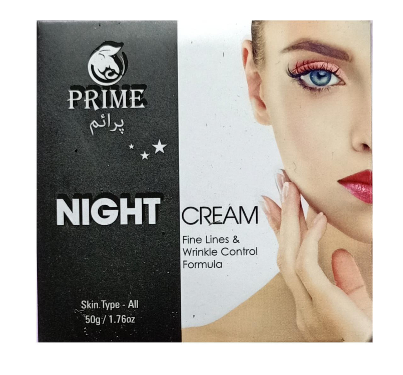 PRIME NIGHT CREAM Ночной крем для лица. Формула контроля морщин