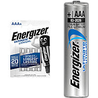 Батарейка литиевая Energizer Ultimate Lithium AAA/FR03, 1шт