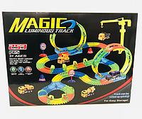Автотрек Magic Tracks (Мэджик Трек) со светящейся машинкой, 253 дет.