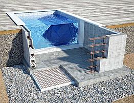 Блочный  пленочный бассейн 6х3х1.6м