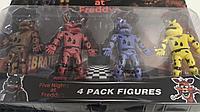Аниматроники, игровой набор Фигурки Пять ночей с Фредди (набор из 4 шт)