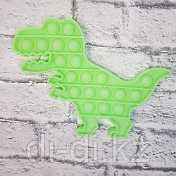 Pop it Fidget Сенсорная игрушка антистресс Вечная пупырка, динозавр светится в темноте
