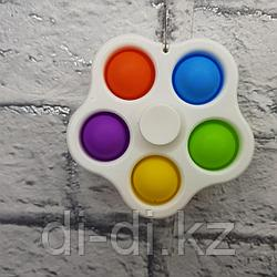 Симпл Димпл Спинер из 5, Сенсорная игрушка антистресс Вечная пупырка