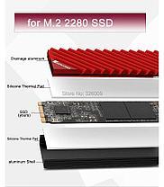 Охлаждение для SSD радиатор M.2 NGFF 2280 PCI-E NVME SSD  для майнинга, фото 3