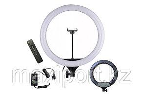 Профессиональная  кольцевая лампа 46 см для фотоаппарата и смартфона YQ-460B Штатив в комплекте, фото 2