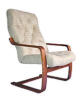 Кресло для отдыха Магнат (оптом и в розницу) замша крем