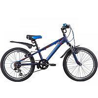 "Велосипед NOVATRACK 20"", LUMEN, синий, алюм., 6-скор, TY21/TS38/SG-6SI, V-brake"