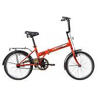 """Велосипед NOVATRACK 20"""" складной, TG30, оранжевый, торм 1руч и нож,,ALобода, комфорт.сид.и руль"""