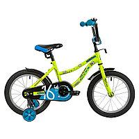 """Велосипед NOVATRACK 14"""" NEPTUNE салатовый, тормоз нож, крылья корот, полная защ.цепи"""