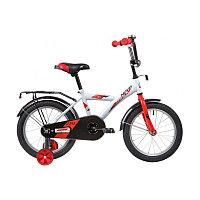 """Велосипед NOVATRACK 16"""" ASTRA белый, тормоз нож, крылья, багажник, полная защ.цепи"""