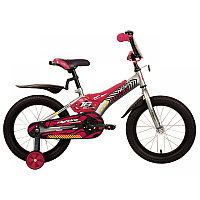 """Велосипед NOVATRACK 16"""" FLIGHTLINE, серый, пластиковые короткие крылья"""