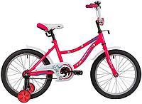 "Велосипед NOVATRACK 18"" NEPTUNE розовый, тормоз нож, крылья корот, защита А-тип"