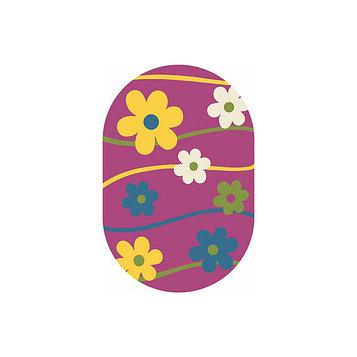 Овальный ковёр Crystal 1021, 80 х 150 см, цвет purple