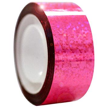 Обмотка для гимнастических булав и обручей Diamond клейкая, цвет флюо-розовый металлик