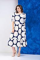 Женское летнее из вискозы большого размера платье Anastasia 634 синий 48р.