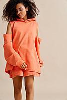 Женский осенний трикотажный оранжевый спортивный джемпер Beauty Style 558 42р.