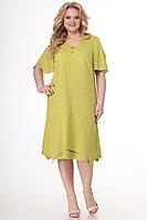 Женское летнее хлопковое желтое большого размера платье Algranda by Новелла Шарм А3715 58р.