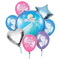 """Воздушные шары, набор """"Холодное сердце. С Днем Рождения"""", Disney"""
