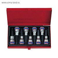 "Набор торцевых насадок 1/2"", TORX, Т20-Т60 мм, L = 80 мм, 9 предметов"