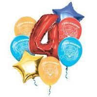 Воздушные шары, набор 'С Днем Рождения 4 года', Щенячий патруль