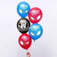 Воздушные шары 'С Днем Рождения! Самый крутой', Человек-паук (набор 25 шт) 12 дюйм