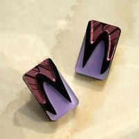 Серьги из акрила 'Вечеринка мини', цвет сиренево-розовый