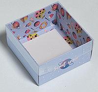 Коробка для кондитерских изделий с PVC крышкой Sweet Spase, 12 х 6 х 11,5 см