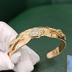 Браслет золото с фианитами (Россия)