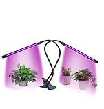 Двойная фито лампа, светодиодная, с регулируемым зажимом., фото 3