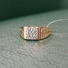 Кольцо мужское золото 21 размер