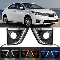 Дневные ходовые огни на Toyota Corolla 2013-16 вариант 2